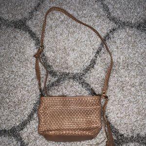 PATRICIA NASH WOVEN BROWN CROSS-BODY BAG!!!